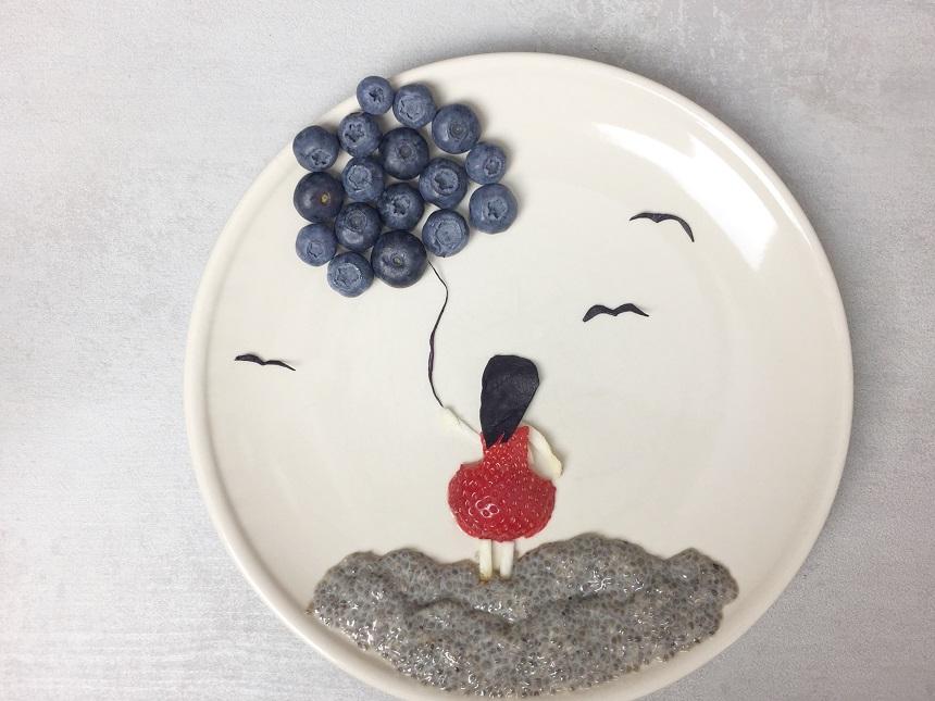 chia pudding-chia pudding with blueberries-chia seeds-chia-superfoods-superfood-raw-vegan-vegetarian-heathy-breakfast-meal-food-recipe-snack-Iceberg Salat Centar
