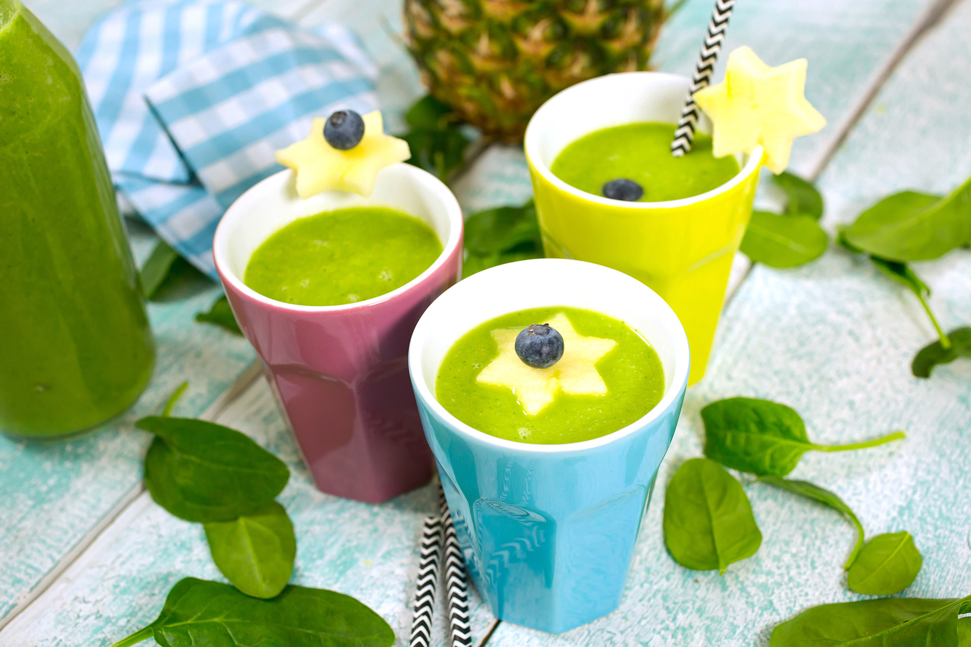 Exotic Smoothie with Pineapple and Mango